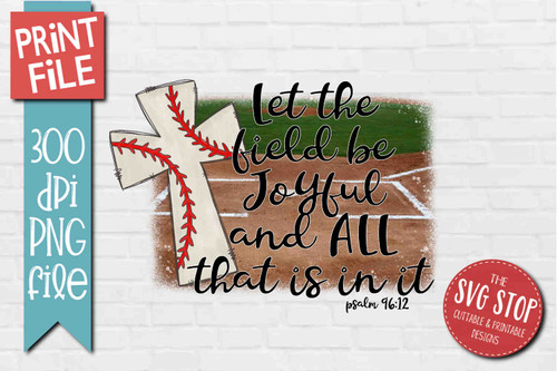 Baseball Cross Field - PRINT File - Sublimation Design