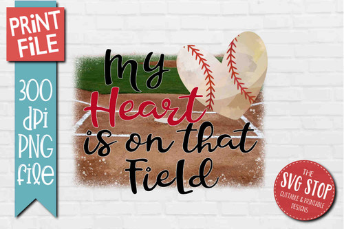 Baseball Heart Field - PRINT File - Sublimation Design