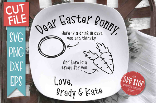 Easter Bunny Plate SVG DXF Png Eps - Cut File 3