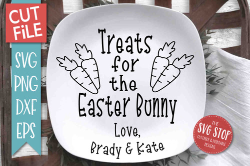 Easter Bunny Plate SVG DXF Png Eps - Cut File 4