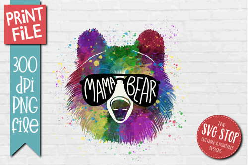 Mama Bear - PRINT File - Sublimation Design