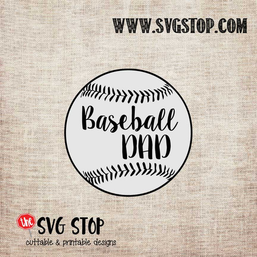 Baseball Dad Outline Cut File in SVG, DXF, JPG, PNG, and EPS