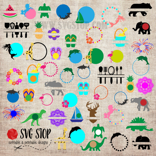 The NEW 2017 Graphics Bundle of over 75 SVG, DXF, JPG, PNG, and EPS format cut file clipartdesigns for Silhouette, Cricut, Brother Scan n cut, andvarious other cutting machines.