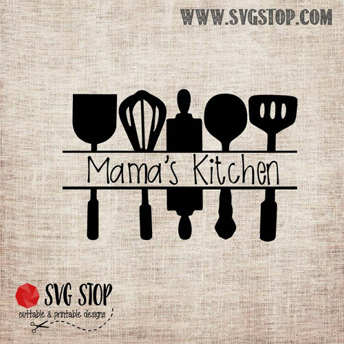 Kitchen Utensils Frame Freebie SVG, DXF, JPG, PNG, and EPS format cut file clipartfor Silhouette, Cricut, Brother Scan n cut, andvarious other cutting machines.