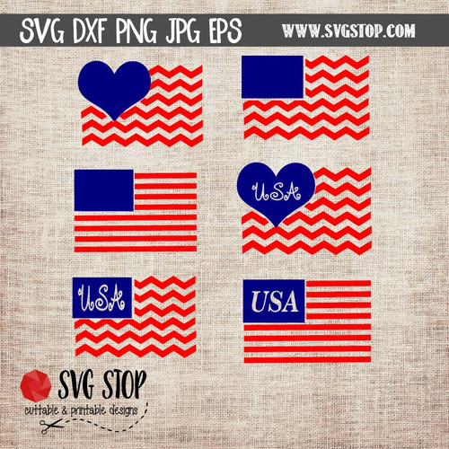 monogram flag frames clip art cut file svg
