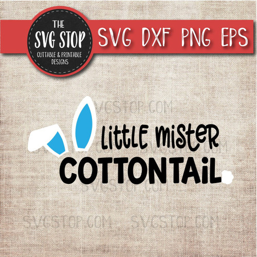 Mister cottontail Easter Svg Clipart Cut File