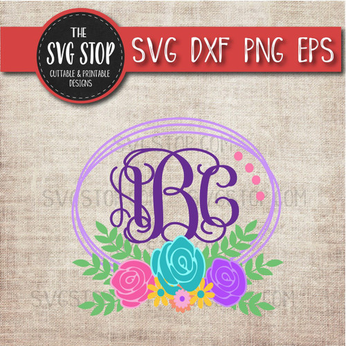 Layered Flowers Svg Easter Clipart Cut File