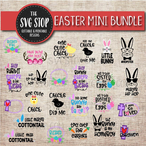 Easter Svg Clipart Cut Files