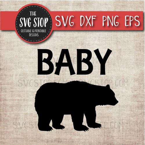 baby bear svg clipart cut file