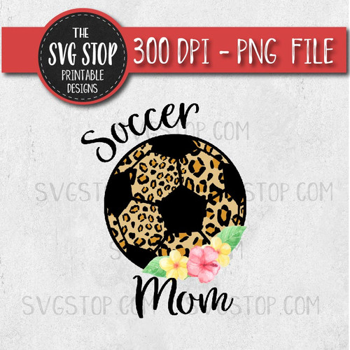 Soccer Mom Cheetah Print Baseball Layered Flowers