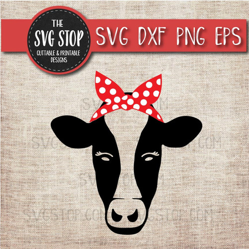 cow bandana farm animals svg clipart cut file