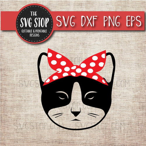Cat Bandana Clipart Cut File SVG Silhouette