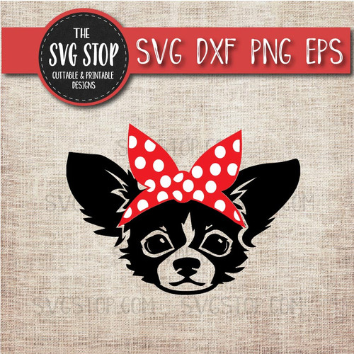 Long Hair Chihuahua Dog Bandana Animals Svg Cut File Clipart The Svg Stop