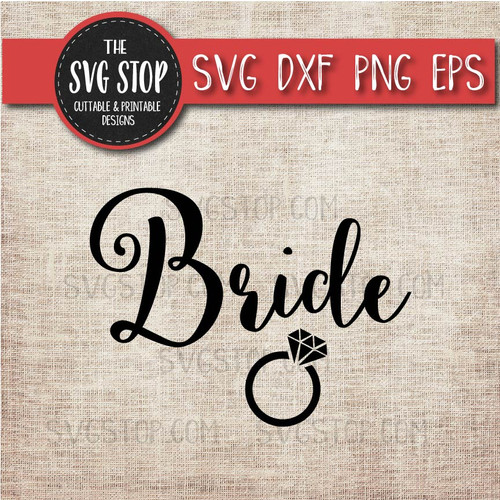 bride wedding ring svg clipart cut file