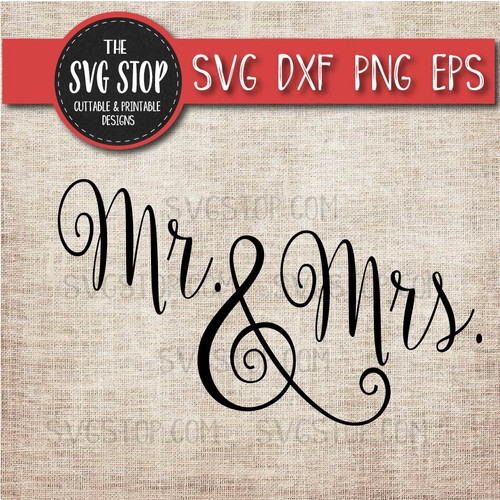 Mr and Mrs wedding clipart cut file svg