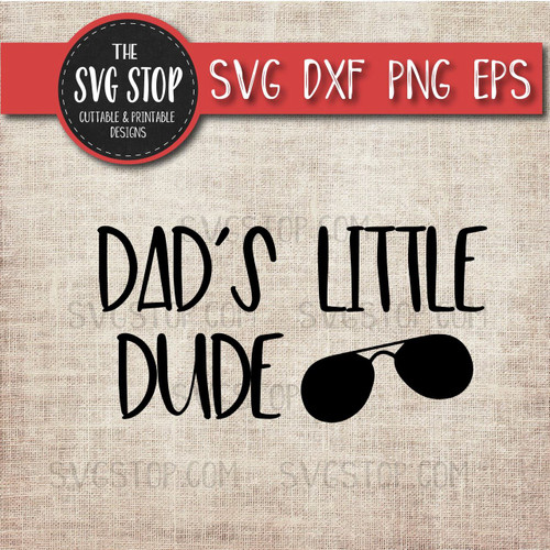 dad little dud fathers day svg clipart cut file sunglasses