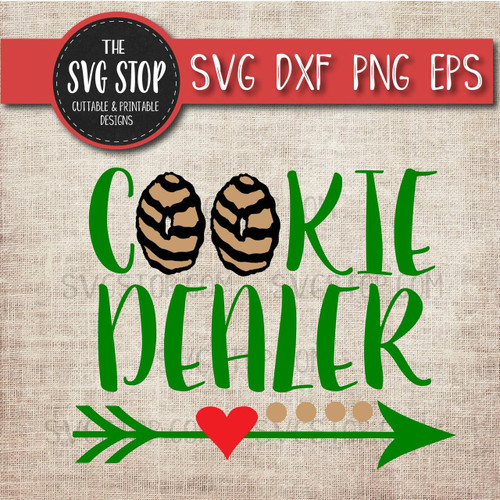 Cookie Dealer girl scout svg clipart cut file