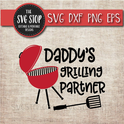 daddy's grilling Partner summer bbq grill clipart cut file svg