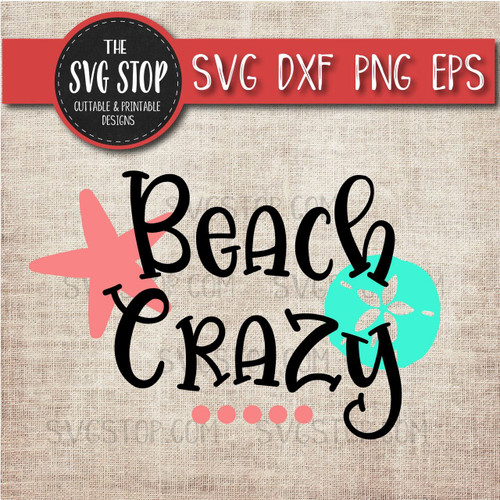 beach crazy  svg clipart cut file sublimation design