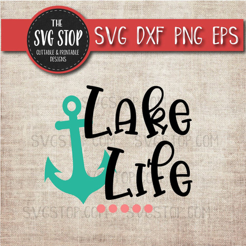 Lake Life svg clipart cut file sublimation design