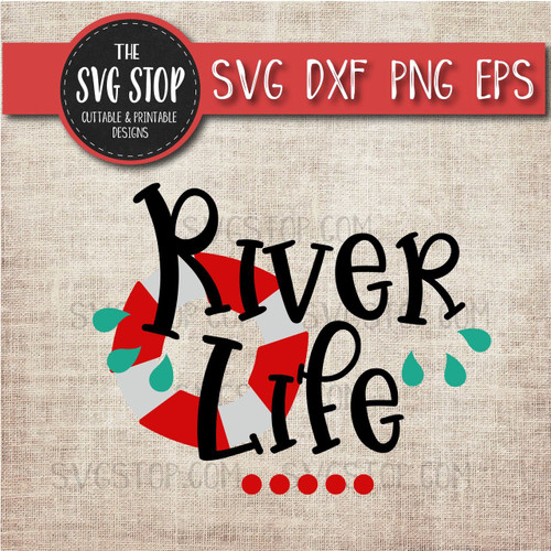 River Life svg clipart cut file sublimation design