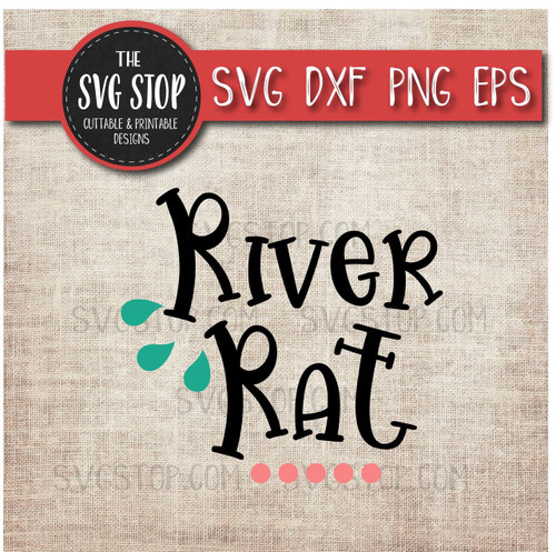 River Rat svg clipart cut file sublimation design