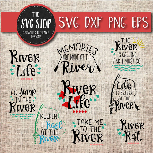 River Life Bundle svg clipart cut file sublimation design