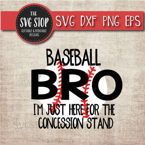 baseball brother sibling concession stand svg clipart cut file sublimation design