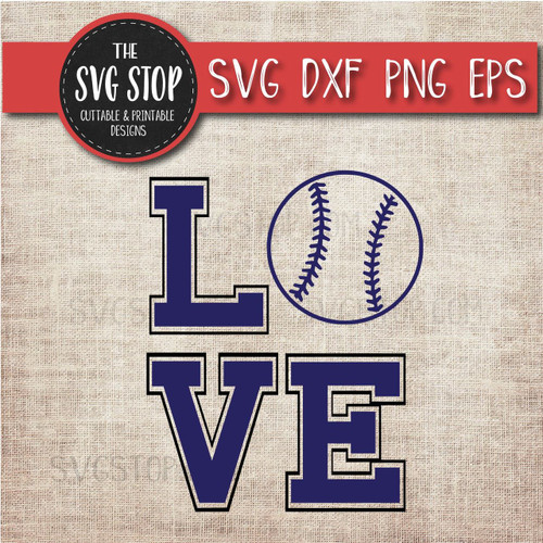 love baseball svg clipart cut file sublimation design
