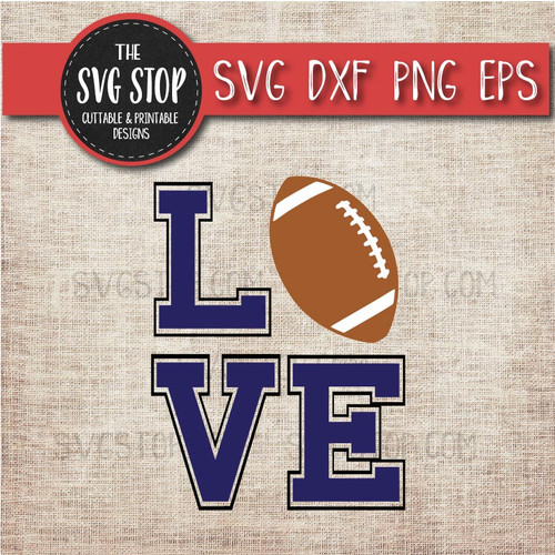 love Football svg clipart cut file sublimation design