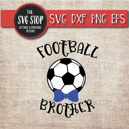 Football Soccer brother sibling bowtie svg clipart cut file sublimation design