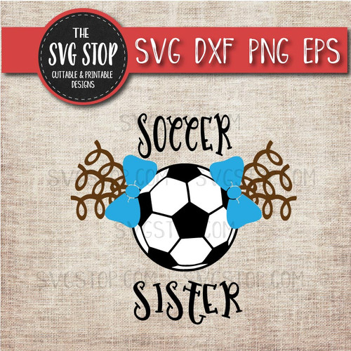 Soccer sister sibling pigtails curls svg clipart cut file sublimation design