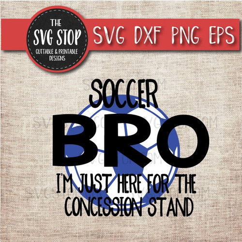Soccer brother sibling concession stand svg clipart cut file sublimation design