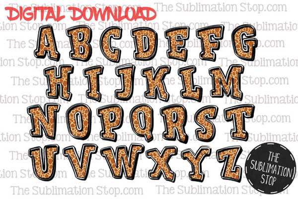 photo regarding Printable Fonts named Wild Deal - Animal Print Fonts Backsplashes Fixed - Sublimation Portion Layout - Printable - Print and Slash - PNG Layout