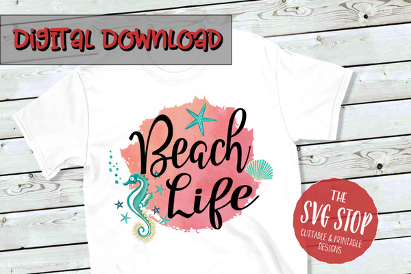 Beach Life png file for tshirt printing