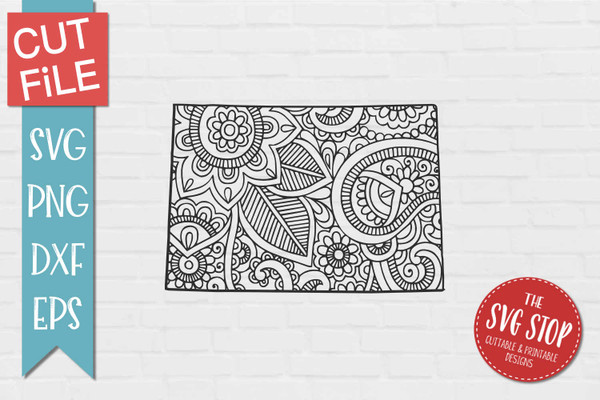 zentangle style Wyoming svg cut file silhouette Cricut sublimation printing