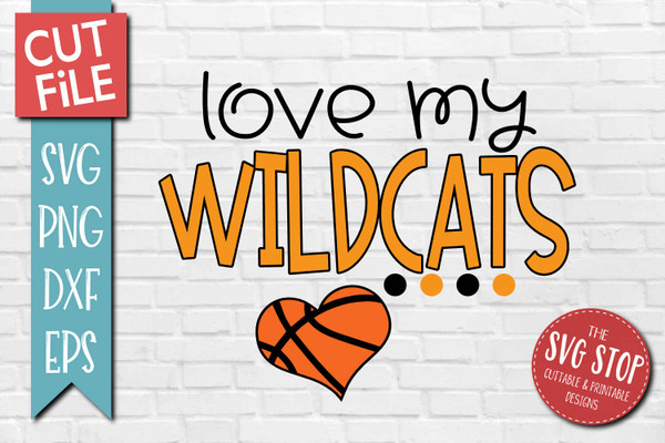 Wildcats basketball mascot svg cut file silhouette Cricut sublimation printing