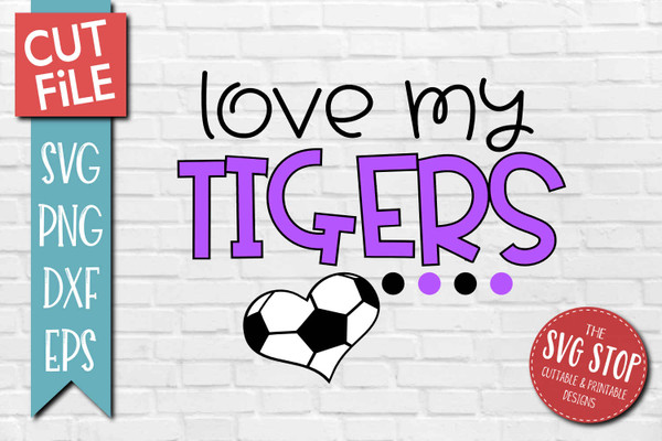 Tigers Soccer football mascot svg cut file silhouette Cricut sublimation printing
