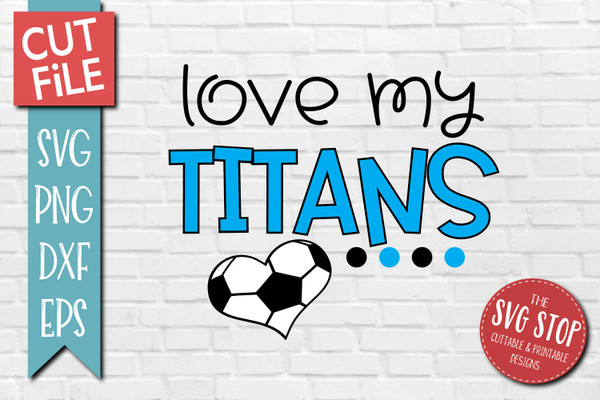 Titans Soccer football mascot svg cut file silhouette Cricut sublimation printing