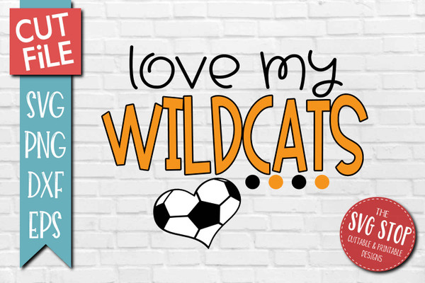 Wildcats Soccer football mascot svg cut file silhouette Cricut sublimation printing