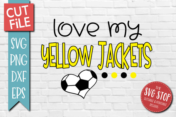 Yellow Jackets Soccer football mascot svg cut file silhouette Cricut sublimation printing