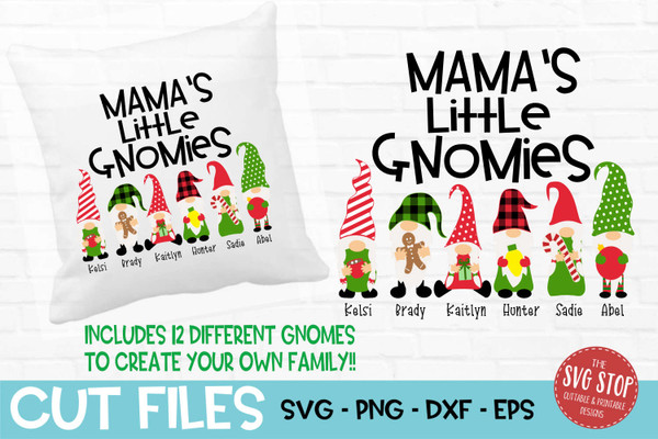 Mamas little gnomies grandma gnome svg cut files sublimation design