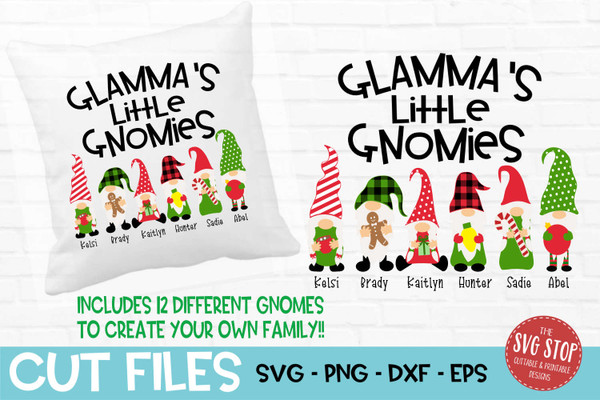 Glamma little gnomies grandma gnome svg cut files sublimation design