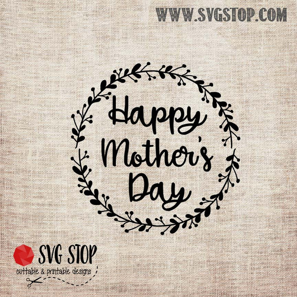 Happy Mothers Day Freebie SVG, DXF, JPG, PNG, and EPS format cut file clipartfor Silhouette, Cricut, Brother Scan n cut, andvarious other cutting machines.