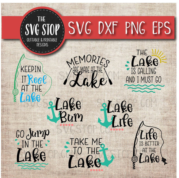 Lake Bundle svg clipart cut file sublimation design
