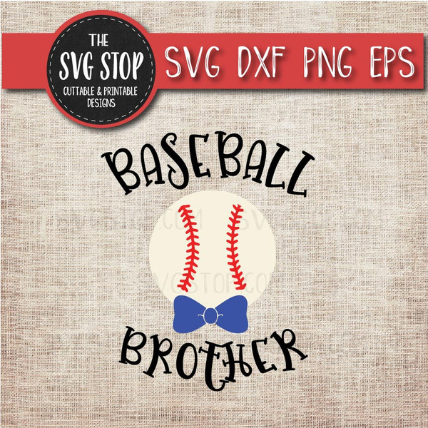 baseball brother sibling bowtie svg clipart cut file sublimation design