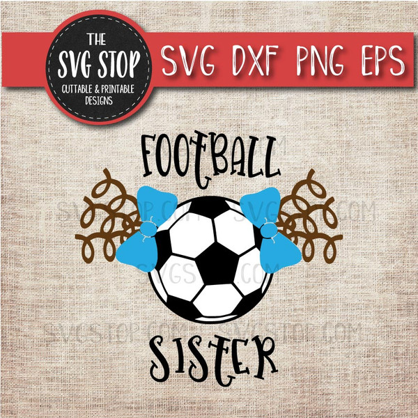 football Soccer sister sibling pigtails curls svg clipart cut file sublimation design