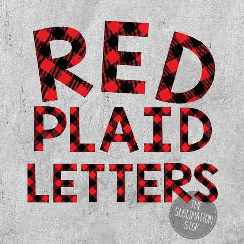 Red Buffalo Plaid Letters Font The Svg Stop