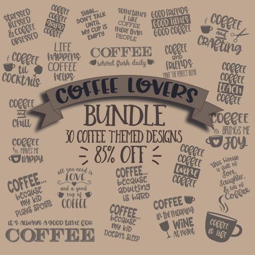 Coffee Lovers Bundle Svg Cut File Clipart | The SVG Stop