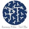 "12""x12"" Permanent Patterned Vinyl - Awareness Ribbon - Dark Blue"